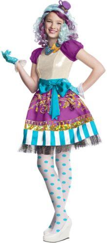 Girls Madeline Hatter Ever After High TV Film Book Fancy Dress Costume Outfit