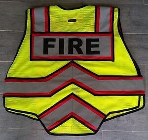 ULTRABRIGHT RED-FIRE 6 Point Breakaway, Class II Public Safety Vest