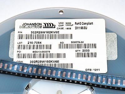 [50pcs] Johanson HV Ceramic Chip Capacitor 1nF 3000V 3kV 10% SMD 1808 X7R MLCC