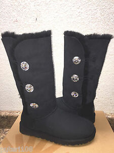 ugg bailey button bling noir