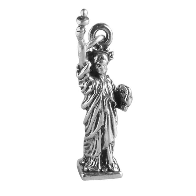 Statue of Liberty Charm Sterling Silver 925 NY USA United States New York Travel