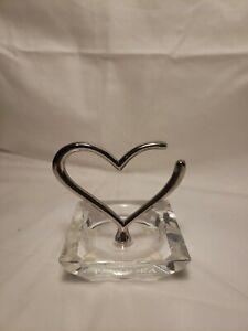 Vintage Pandora Jewelry Crystal Silver Heart Ring Holder Ebay