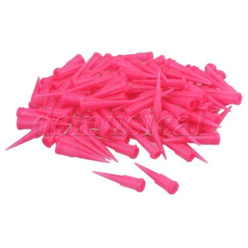 100 pieces 20Ga Industrial TT Dispensing Needles Blunt Tips Screw Type Pink
