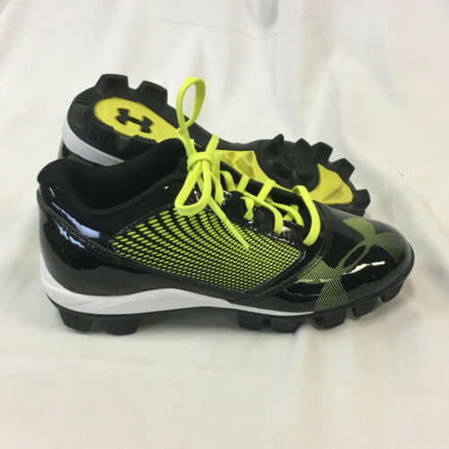 Green Sz 5.5Y NEW Youth Under Armour Yard Low RM Baseball Cleats Shoes Black