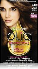 Garnier Olia Brilliant Permanent Color, Light Neutral Brown [6.03] 1 ea 6pk