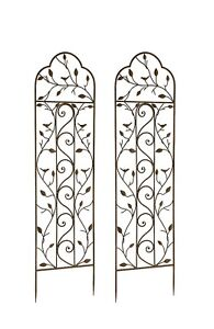 Beau Image Is Loading Set Of 2 X Nature Metal Garden Trellis