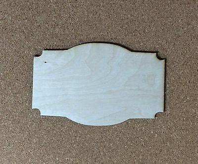 Unfinished Wood Laser Cut Decorative Plaque (TM8), Ready to Paint, Wreath Accent