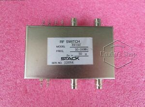 used AV100 DC-200MHZ BNC DPDT RF microwave coaxial switch