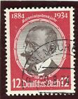 GERMANY; 1934 early Jubilee issue fine used 12pf. value