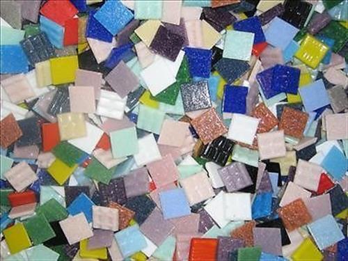 12.5kg box Mixed 20mm Vitreous Mosaic Tiles