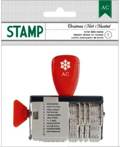 American Crafts Roller Date Stamp *CHRISTMAS *NOEL *NAVIDAD Phrases Date ~59221