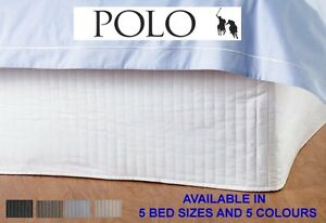 POLO-Quilted-Valance-bed-Skirt-Single-King-Single-Double-Queen-amp-King-sizes