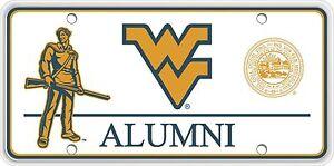 WVU Alumni Metal Souvenir License Plate SVWVUALUMN01