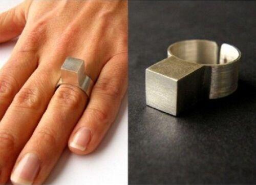 UNIKAT Handmade NEU Silber 925 Wunderschöner Ring aus SILBERWÜRFEL