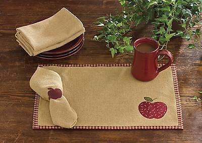 Placemat Set of 3 - Burlap Apple by Park Designs - Country Primitive