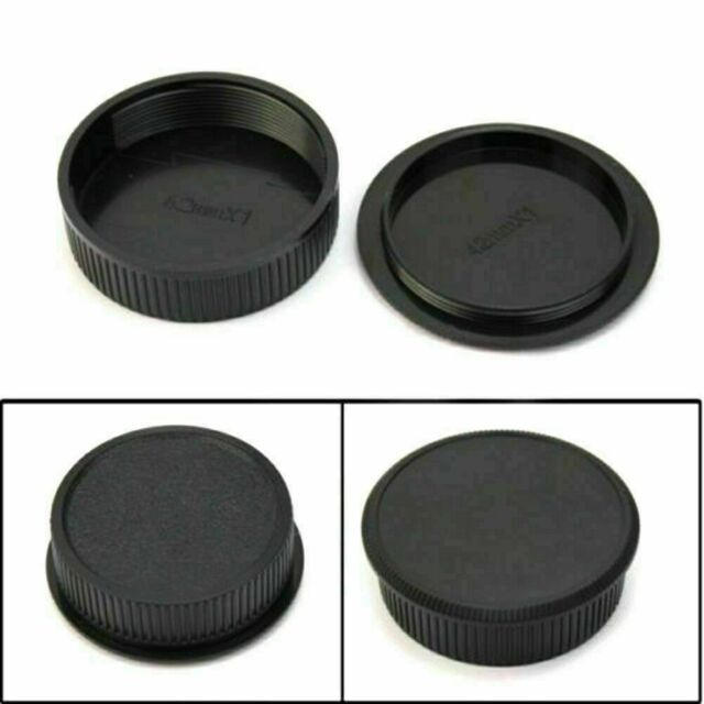 2x 42mm Plastic Front Rear Cap Cover For M42 Digital Body Lens and S Camera Q9T4