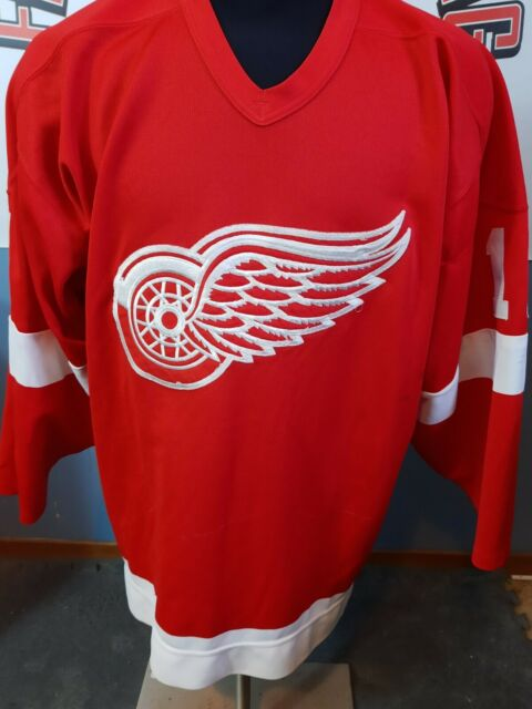SHAWN BURR DETROIT RED WINGS GAME WORN JERSEY NHL LIGHTNING