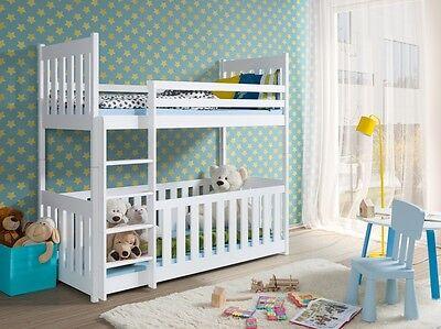 Etagenbett Hochbett Kinderbett Doppelbett Chris 90x200 Unschädlich