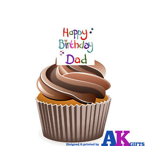 Image Is Loading Happy Birthday Dad Party 12 Cup Cake
