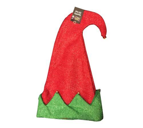 Nouveau Père Noël Elf Hat avec Jingle Bells Noël Party Adult Fancy Dress