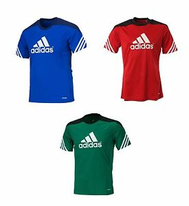 Image is loading Adidas-Sereno-14-Training-S-S-Jersey-D82940-Soccer-