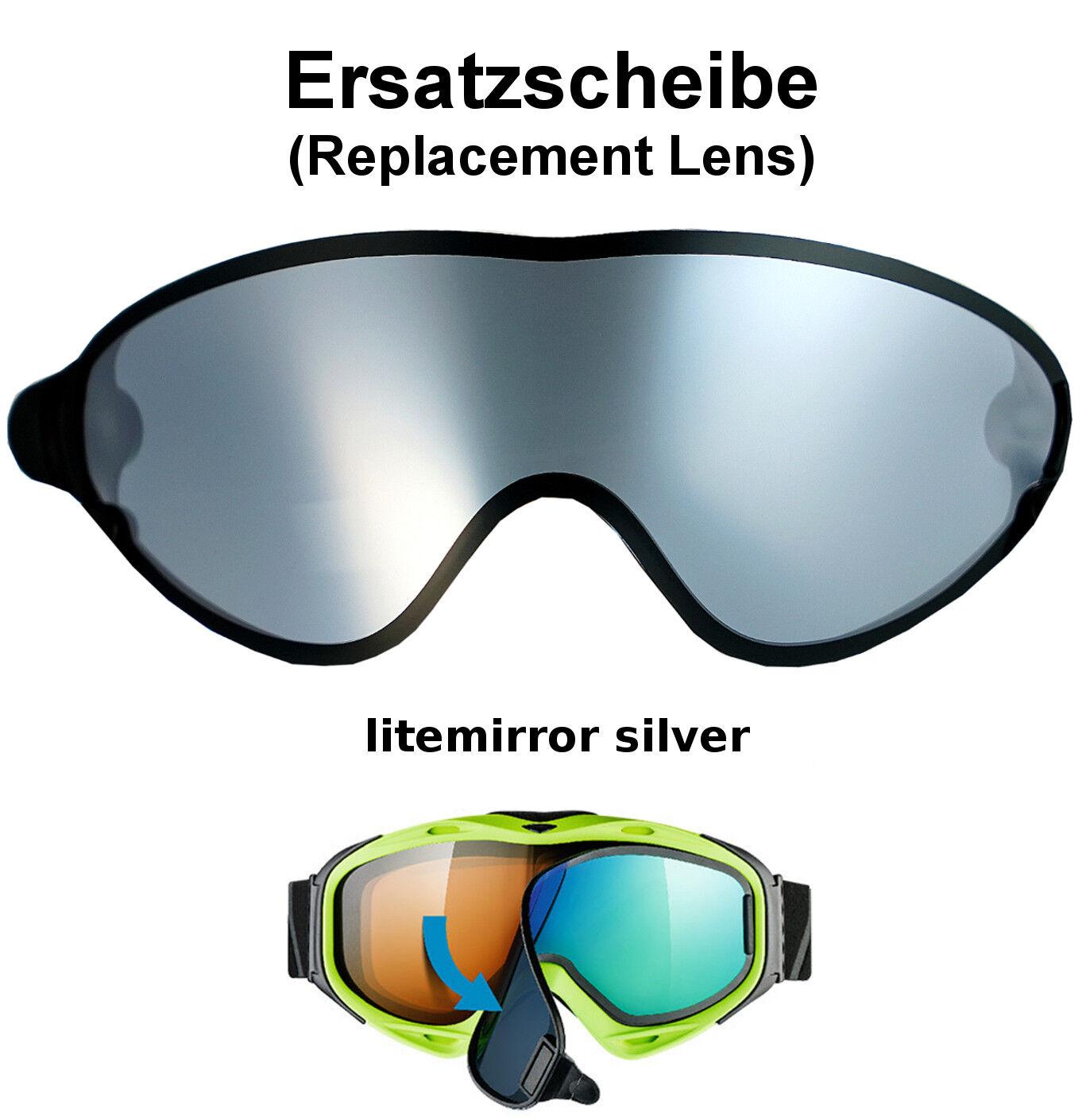 Uvex Comanche take off Ersatzscheibe Scheibe Silber Skibrille Goggle Brille