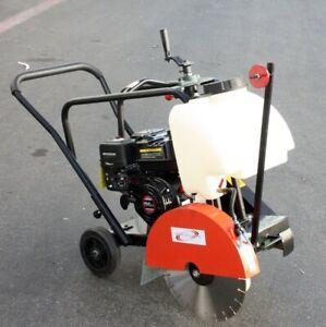 14-034-Walk-Behind-Floor-Concrete-Cement-6-5-HP-Engine-Gas-Cut-Off-Saw-W-Blade