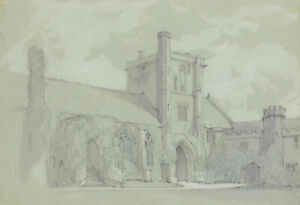 St Cross Hospital, Winchester – Original late 19th-century graphite drawing