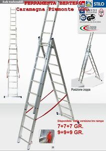SCALA-ALLUMINIO-FACAL-STILO-3-RAMPE-DISPONIBILE-DA-7-7-7-9-9-9-GRADINI