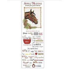 Horse w/Pinecones Apple Muffin Treats Recipe Towel