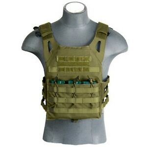 Lancer Tactical Military & Hunting JPC Jumpable Dummy Plate Carrier OD Green