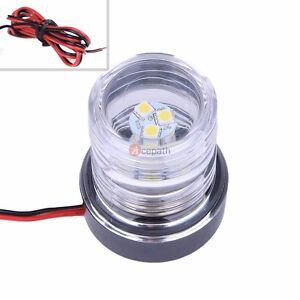 12V Marine Boat Yacht Navigation Anchor Light 360 Degree All Around 12 White LED