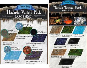 NEW-Dwarven-Forge-Caverns-Deep-Terrain-Trays-Hazards-Variety-Pack-Texture-Patch