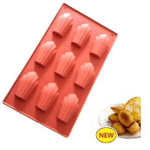 Flexible-Madeleine-Silicone-Cake-Baking-Mold-Pan-Shell-Chocolate-Cookie-DIY-Mold