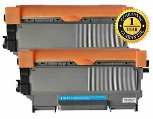 2pk Toner for Brother TN450 HL-2275DW HL-2280DW IntelliFax-2840 IntelliFax-2940