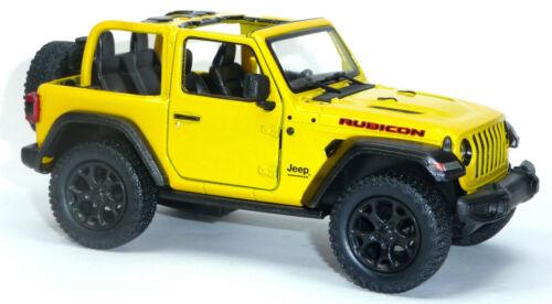 2018 Modellauto Jeep Wrangler Rubicon ca.12,5 cm gelb offen Neuware von Kinsmart