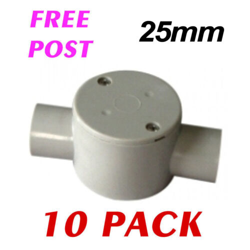 2 Way Conduit Box Electrical Conduit Fittings Free Ship 10 Pack 25mm