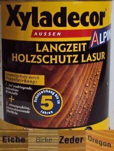 €5/L Xyladecor Alpin Zeder BEULE Langzeit Holzschutzlasur 5 L Lasur 5 Liter DSL