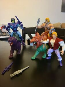 Original He-Man / Skeletor / Battle Cat / Panthor action figures 80s + P Swords