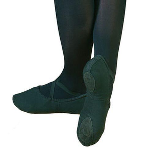 capezio 2031 mens ballet shoes black canvas split sole