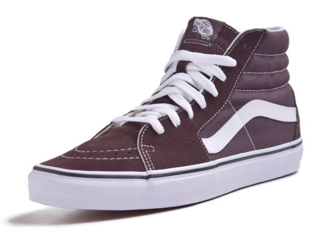 5a8317aed1 VANS Sk8 Hi Chocolate Torte true White Men s Classic Skate Shoes ...