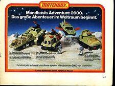 Matchbox-- Mondbasis Adventure 2000 --Werbung von 1978--