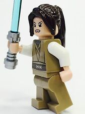 LEGO STAR WARS JEDI CUSTOM MINFIG FEMALE BROWN HAIR 100% NEW LEGO PARTS KNIGHT