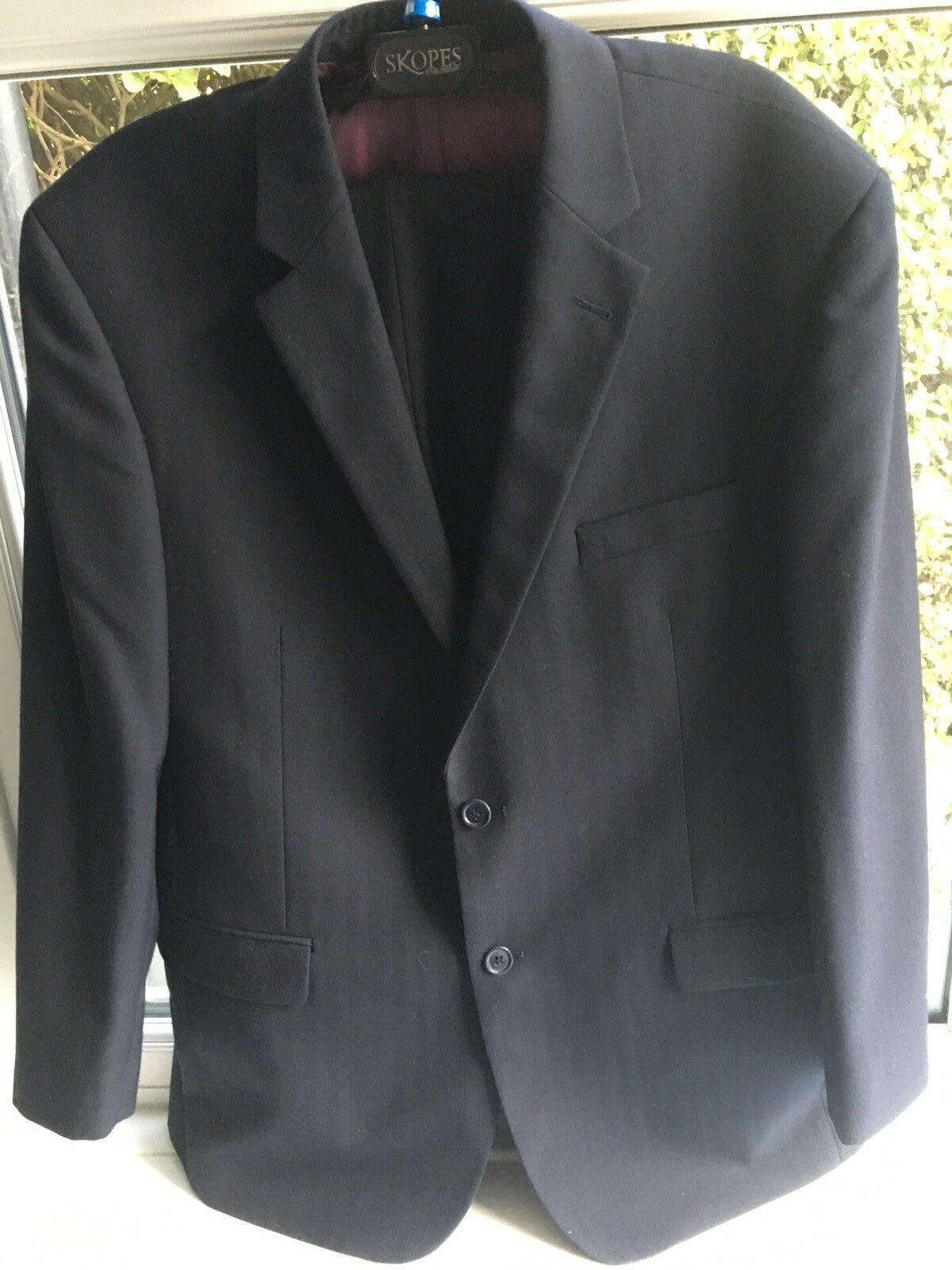 Herren Dark Blau Suit 44S Skopes