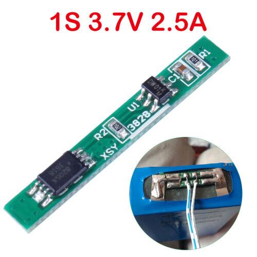 1S Batterieladegerät Schutzplatine BMS Li-Ion Lademodul 2.5A 3.7V Schutz Tafel