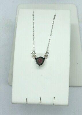 Artisan Pendant Necklace Garnet Gemstones Watermelon Tourmaline Gemstones