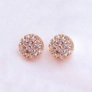 Elegant-Fashion-Women-Lady-Circle-Crystal-Rhinestone-Ear-Stud-Earrings-Jewelry