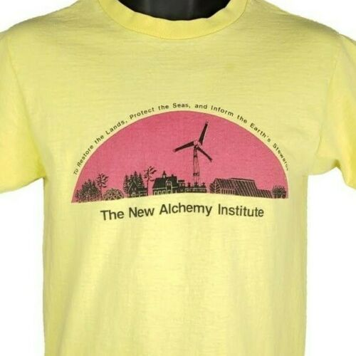 New Alchemy Institute T Shirt Vintage 80s Organic