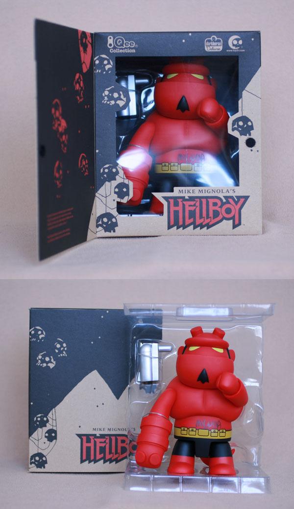 Mike laissent signé 8  Rouge Hellboy Qee le autographié Toy2R Dark Horse Comics