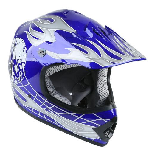 DOT Youth Kids Helmet Red Green White Blue Black Dirt Bike ATV Goggles Gloves